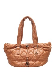 CC Leather Handbag Leather