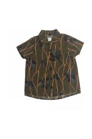 SHORT SLEEVE COTTON SHIRT WITH PRINTS