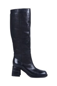 Structured block heel leather boots - 1Y5246D