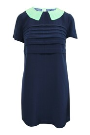 Shift Dress with Collar