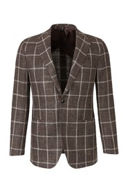 Silk And Wool Check Blazer
