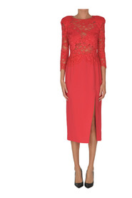 Sheath dress with lace top