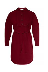 Dress with band collar