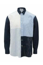 Embroidered Patchwork Shirt