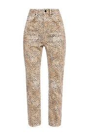 Leopard-printed jeans