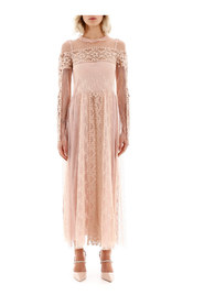 Plumetis and lace dress