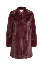 Visofta faux fur coat winetasting - Vila