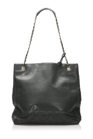 Large Timeless Lambskin Chain Tote Bag