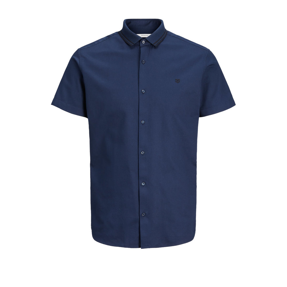 Short sleeved shirt Plain slim fit basic