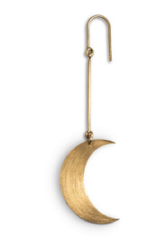 Half Moon Earring, gold-plated sterling silver