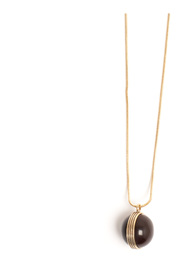 Necklace Glass Globe Brown