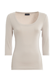 STRETCH COTTON RIBBED T-SHIRT