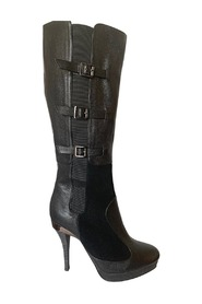 Emily Leather Buckles Boots
