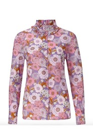 Rosa Rich and Royal Bluse Blomstrete
