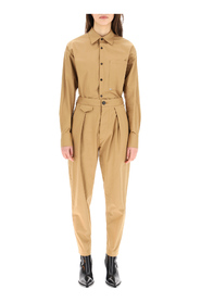 jumpsuit in stretch cotton gabardine