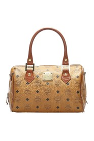 Visetos Leather Boston Bag