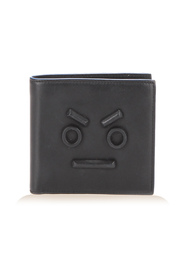 Faces Bifold Leather Wallet