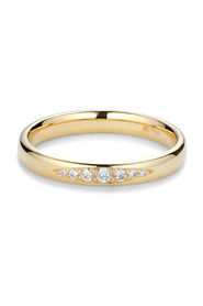 Wedding ring, 7 diamonds, 0.10 ct., 18-carat gold