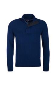 Sweter z zamkiem do połowy długości