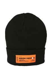 patched beanie hat
