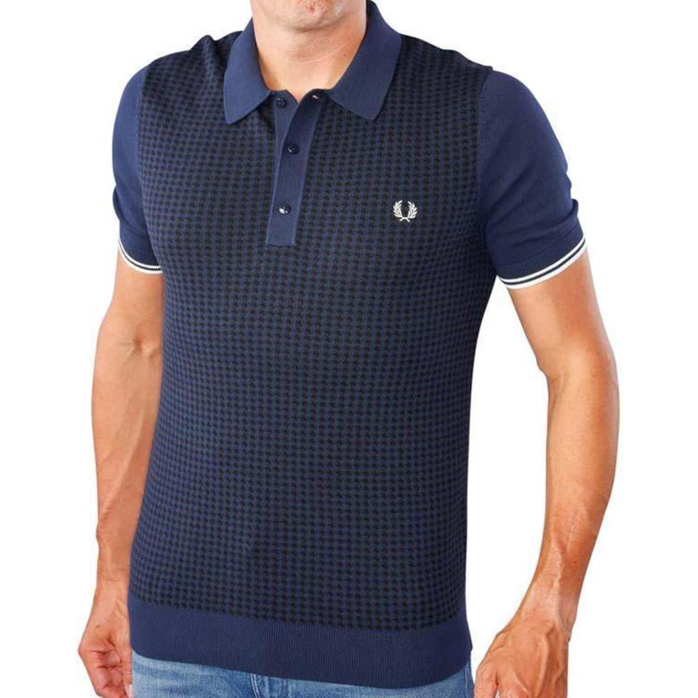 Houndstooth Knitted Polo K2535-395