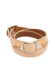 pre-owned Leather Studded Triple Tour Bracelet