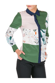 women's shirt long sleeve patchwork