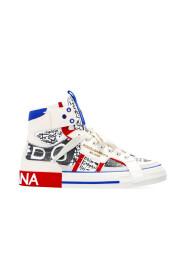 Custom 2.Zero High-top Sneakers With Graffiti Print
