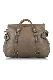 Pre-owned Vitello Lux Bow Satchel Leather Calf