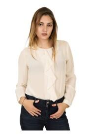 Camicia girocollo in seta -42