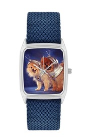 Dogmonaute watch with dog picture