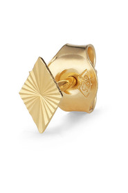 Reflection Rhombe Stud, gold-plated sterling silver