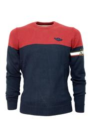 MA1307 TWO-COLOR CREWNECK SWEATER