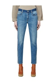 Stone-Washed Tape Jeans