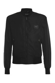 Nylon jacket with branded plate