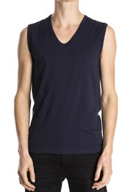 Mey Sleeveless Shirt Organic Blue