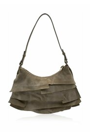 Ruffled Suede Small St Tropez Bag