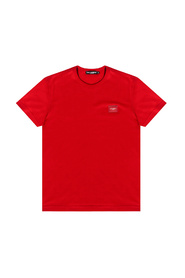Cotton T-shirt with branded plate