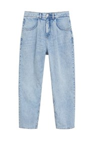 Relaxed fit jeans i vasket denim