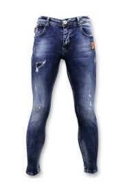 Jeans with Paint Splashes - Paint Drops Jeans