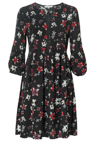 Flowy Dress with Flower Print