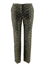 Tailored pants with jacquard