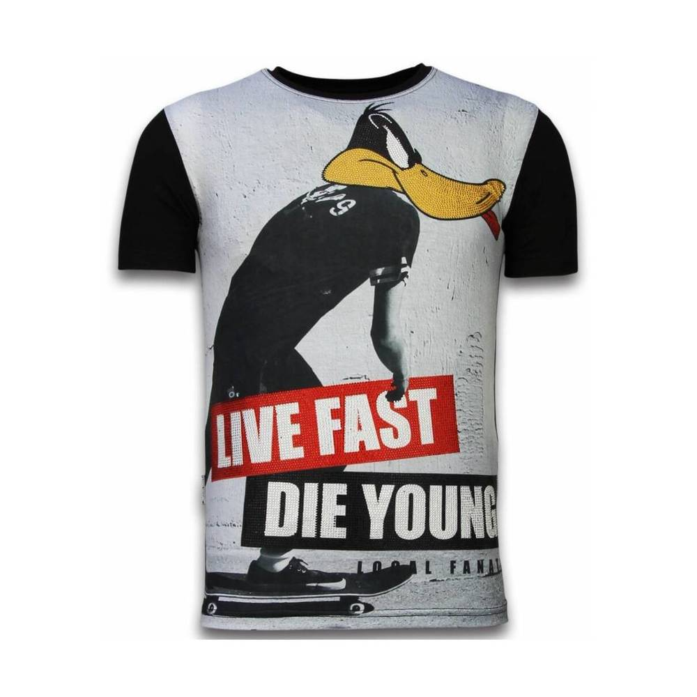 Duck Live Fast - Digital Rhinestone T-shirt