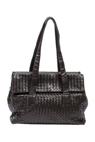 Intrecciato Top Zip Double Pocket Bag