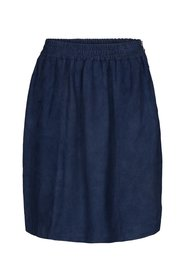 Suede skirt with elasticated waist