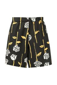 ALLOVER ROSES LOUNGE SHORTS