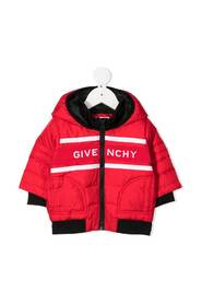 Front logo down jacket