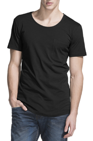 Cotton Loose T Shirt W/ Pocket
