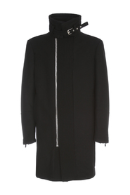 COAT W/ HIGH KNITTED COLLAR
