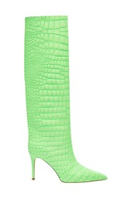 Boots with crocodile look